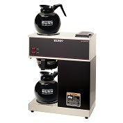 Product Image. Title: BUNN VPR with 2 Glass Decanters 12-Cup Pourover Commercial Coffee Brewer & Decanter Combo