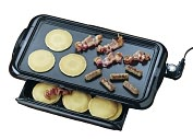 Product Image. Title: Nostalgia Electrics NGD-200 Non-stick Griddle with Warming Drawer