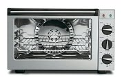 Product Image. Title: Waring Pro CO1500B 1.5 Cubic Foot Professional Convection Oven - Brushed Stainless
