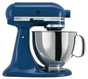 Product Image. Title: KitchenAid KSM150PSBW Artisan Series 5-Quart Tilt-Head Stand Mixer - Blue Willow
