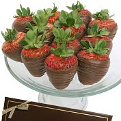 Product Image. Title: 12 Classic Belgian Milk Chocolate Covered Strawberries