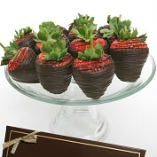 Product Image. Title: 12 Classic Belgian Dark Chocolate Covered Strawberries