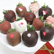 Product Image. Title: 12 XOX Belgian Chocolate Covered Strawberries