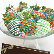 Product Image. Title: 12 Birthday Belgian Chocolate Covered Strawberries