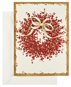 Product Image. Title: Berry Wreath Christmas Boxed Card