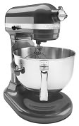 Product Image. Title: KitchenAid KP26M1XPM Professional 600 Series Bowl-Lift Stand Mixer - Pearl Metallic
