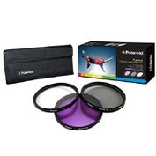 Product Image. Title: Polaroid PL-3FIL72 Filter Kit - Ultraviolet, Polarizer, Color Correction Filter