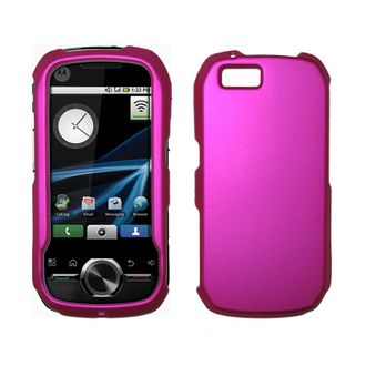 Buy Accessory Export Phones - Premium Hot Pink Plaid Design Snap-On Cover Hard Case Cell Phone Protector for Motorola i1 [Accessory Export Brand Packaging]