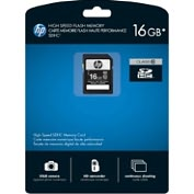 Product Image. Title: HP 16 GB Secure Digital High Capacity (SDHC) - 1 Card