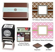 Product Image. Title: Three Designing Women Designer Desk Set  Damask