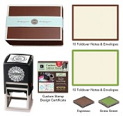 Product Image. Title: Three Designing Women Designer Desk Set   Ecru Espresso