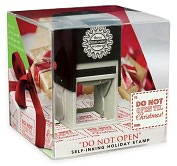 Product Image. Title: Three Designing Women Grab N' Go Holiday Stamp - Do Not Open