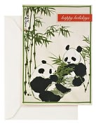 Product Image. Title: Holiday Pandas Christmas Boxed Card
