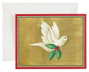 Product Image. Title: Dove With Holly Christmas Boxed Card