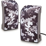 Product Image. Title: USB Stereo Speakers - Military Chrome