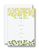Product Image. Title: Botanical Baby Shower Fill-In Baby Invitations Set of 10