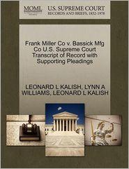 Frank Miller Co V. Bassick Mfg Co U.S. Supreme Court