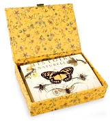 Product Image. Title: Bee Glass Top Boxed Note Card Set of 12