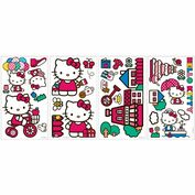 Product Image. Title: The World of Hello Kitty Peel & Stick Wall Decals