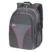 "Product Image. Title: Microsoft MT 16"" Notebook Backpack with Red Trim"