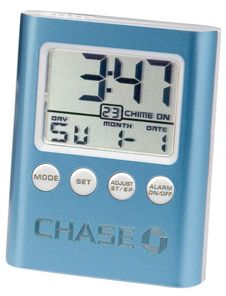 Chass 20215 C-Time Blue LCD Travel Alarm Clock