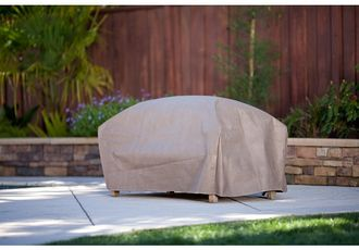 Duck Covers MOT523018 Large Patio Ottoman-Coffee Table Cover