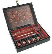 Product Image. Title: Trianon Travel Writing Set - Black