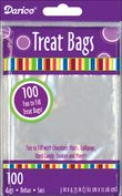 "Product Image. Title: Treat Bags 3""X4-3/4"" 100/Pkg-Clear"