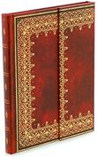 Product Image. Title: Red Antiquarian Foil Journal 7x9