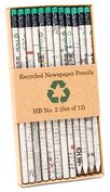 Product Image. Title: Recycled Newspaper No 2 Pencils (set of 12)