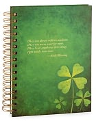 Product Image. Title: Green Shamrock Irish Quote Lined Journal 6x8