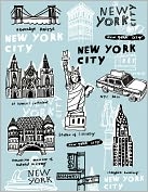 Product Image. Title: New York City Portfolio Note Cards Set of 12