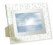Product Image. Title: Celestial Clear Mirrored Border with Rhinestones Embellishment Frame 4x6