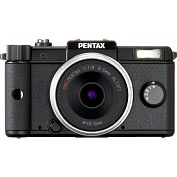 Product Image. Title: Pentax Q 12.4 Megapixel Mirrorless Camera (Body with Lens Kit) - 8.50 mm - Black