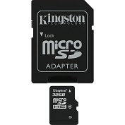 Product Image. Title: Kingston SDC10/32GB 32 GB MicroSD High Capacity (microSDHC) - 1 Card