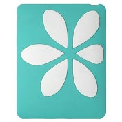 Product Image. Title: IPad Flowervest in Turquoise and White