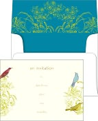 Product Image. Title: George Stanley Birds Foil-Stamped Fill-In Invitations Set of 10