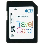 Product Image. Title: Memorex 4GB TravelCard Secure Digital High Capacity (SDHC)