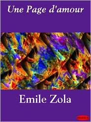 EMILE ZOLA - Page d'amour, Une