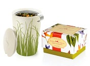 Product Image. Title: Herbal Retreat Petite Ribbon Box with Spring Grass Kati Cup