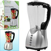 Product Image. Title: Soup-A-Chef Electric Soup Maker - Cooks after it Chops