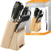 Product Image. Title: Top Chef Stainless Steel Knife Set - 15 Pieces