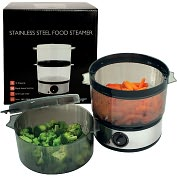 Product Image. Title: 400 Watt Stainless Steel Food Steamer - 4 Quart Capacity