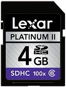 Product Image. Title: Lexar Media Platinum II LSD4GBBSBNA100 4 GB Secure Digital High Capacity (SDHC) - 1 Card
