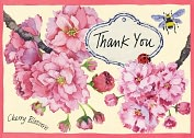Product Image. Title: Cherry Blossom Thank You Note Card Set of 12