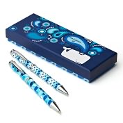 Product Image. Title: Jonathan Adler Blue Ocean Pen & Pencil Set