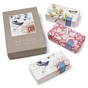 Product Image. Title: Scrapbook Bird Botanical Soap Set of 3