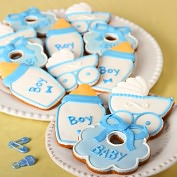 Product Image. Title: 12 pc. Baby Boy Cookie Assortment
