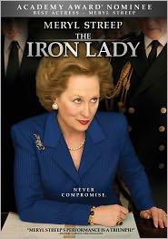 The Iron Lady starring Meryl Streep: DVD Cover