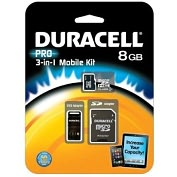 Product Image. Title: Duracell DU-3IN1C1008G-R 8 GB MicroSD High Capacity (microSDHC) - 1 Card